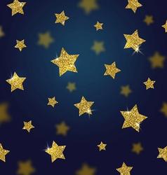 Glitter gold stars background vector image vector image