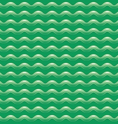 Green abstract pattern with shiny waves vector image