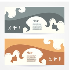Hair salon style beauty locks element background vector