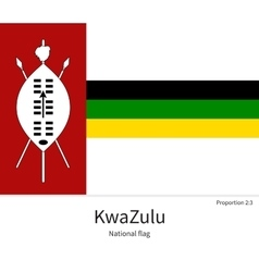 National flag of KwaZulu with correct proportions vector image vector image