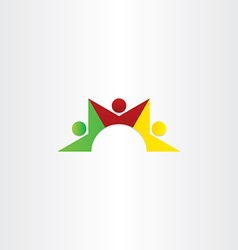 people dancing teamwork icon vector image