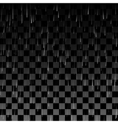 Rain drops on the transparent background vector image