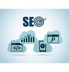 seo technology vector image