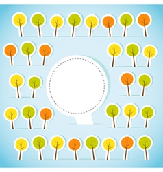 Abstract paper forest with banner vector image vector image
