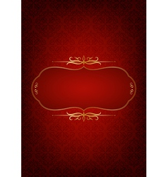 Abstract red background decorated with floral vector image