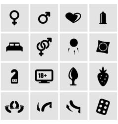 black sex icon set vector image