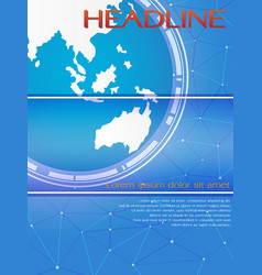 blue global template for brochure or magazine cove vector image vector image