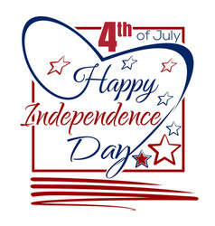 independence day lettering card 4th of july vector image vector image
