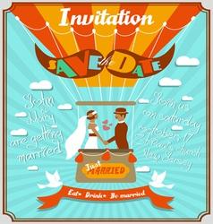 Vintage wedding invitation 5 vector image vector image