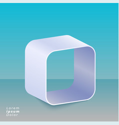3d curved box design background vector