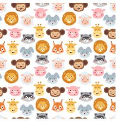 Animal emotion avatar icons vector
