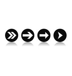 arrows set indication signs in circles vector image
