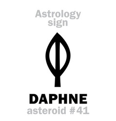 astrology asteroid daphne vector image