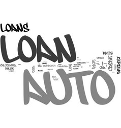 Auto loan kw text word cloud concept vector
