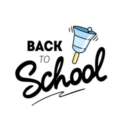 Back to school logo with a bell vector image