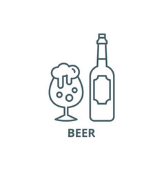 beer line icon beer outline sign concept vector image