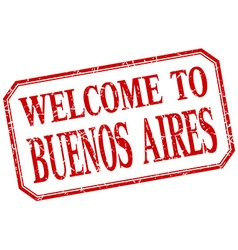 Buenos Aires - welcome red vintage isolated label vector
