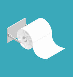 Bumf on holder roll of toilet paper bumph isolated vector
