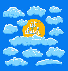 cartoon clouds and sun vector image