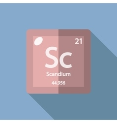 Chemical element Scandium Flat vector image