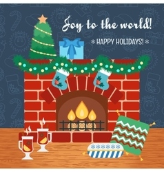Christmas attributes Christmas holidays vector image
