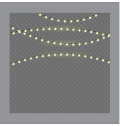 christmas lights on rope isolated on a vector image