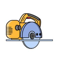 circular saw construction electric tool vector image