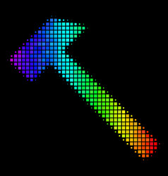 Colored dot hammer icon vector