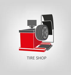 Computer wheel balancer vector