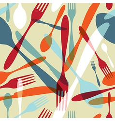 Cutlery transparent silhouette pattern background vector