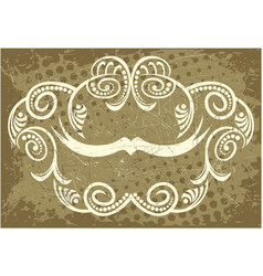 Decorative frame with pattern vector