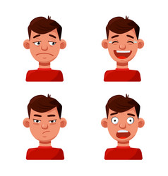 Design face and boy icon collection of vector
