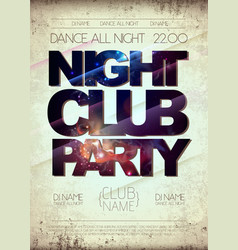 disco night club poster on open space background vector image