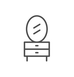 dressing table line icon vector image