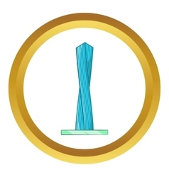 Emirates tower icon vector