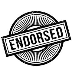 Endorsed rubber stamp vector