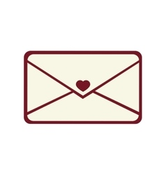 envelopes love card icon vector image