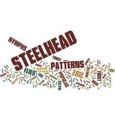 Erie steelhead flies text background word cloud vector