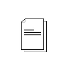 files documents data icon vector image