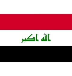 Flag of Iraq in correct proportions and colors vector image