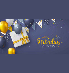 happy birthday holiday design for greeting cards vector image