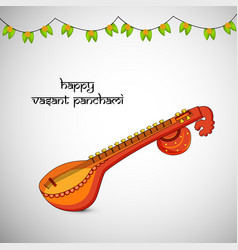 Hindu festival vasant panchami vector