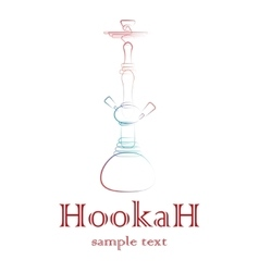 Hookah silhouette outline vector image