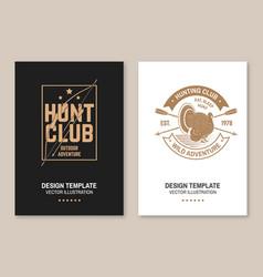 hunting club badge eat sleep hunt flyer vector image