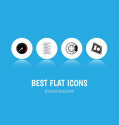 icon flat component set of speedometer brake disk vector image