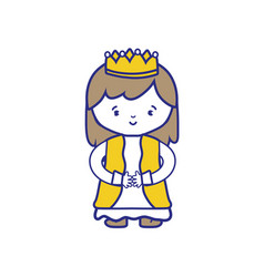 Isolated princess design vector