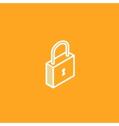 Isometric lock icon vector