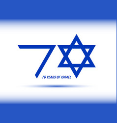 Israel independence day 70 years of israel banner vector