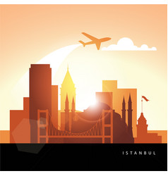 istanbul detailed silhouette vector image