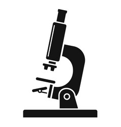 laboratory microscope icon simple style vector image